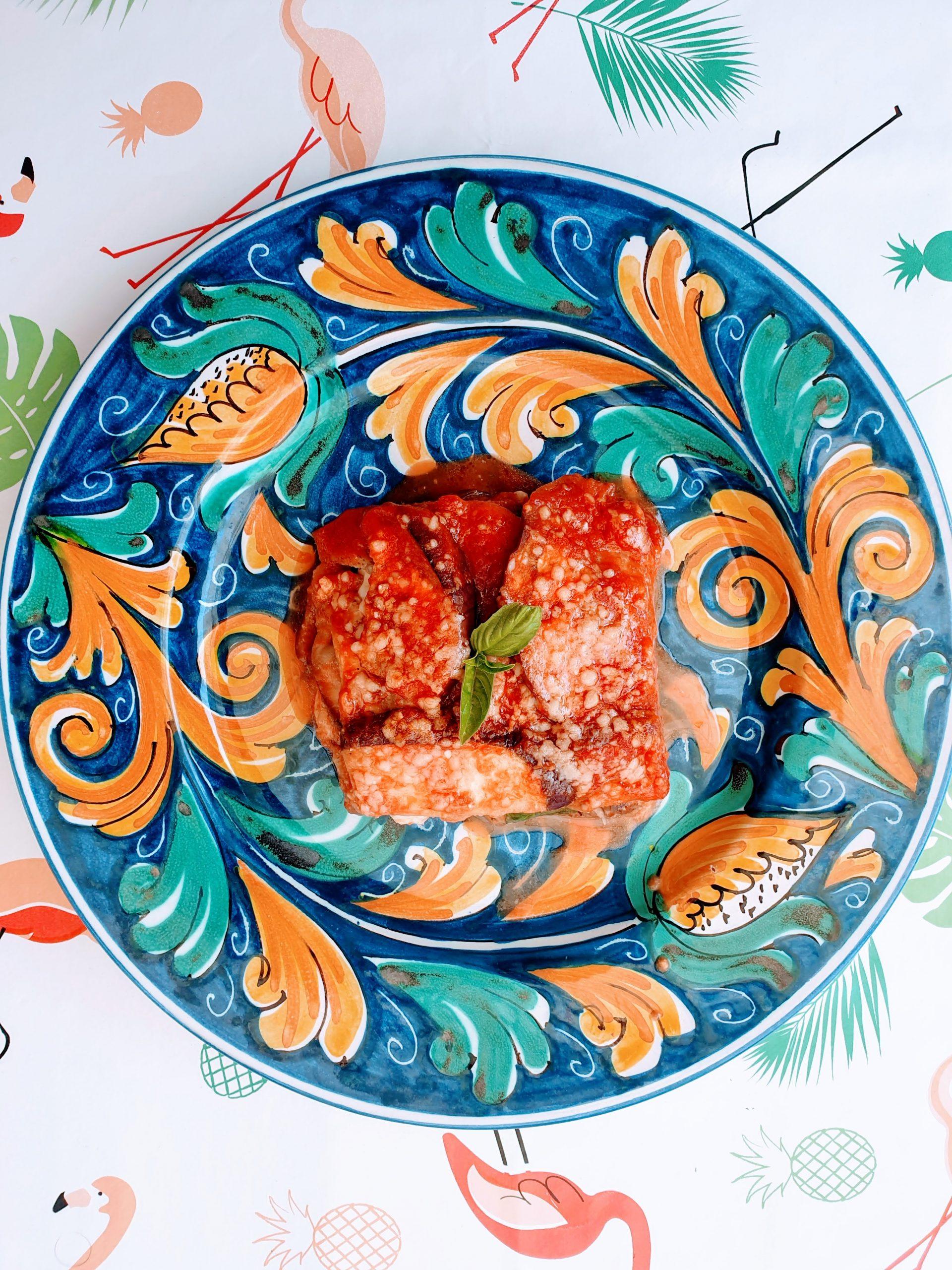 Parmigiana light con melanzane al forno