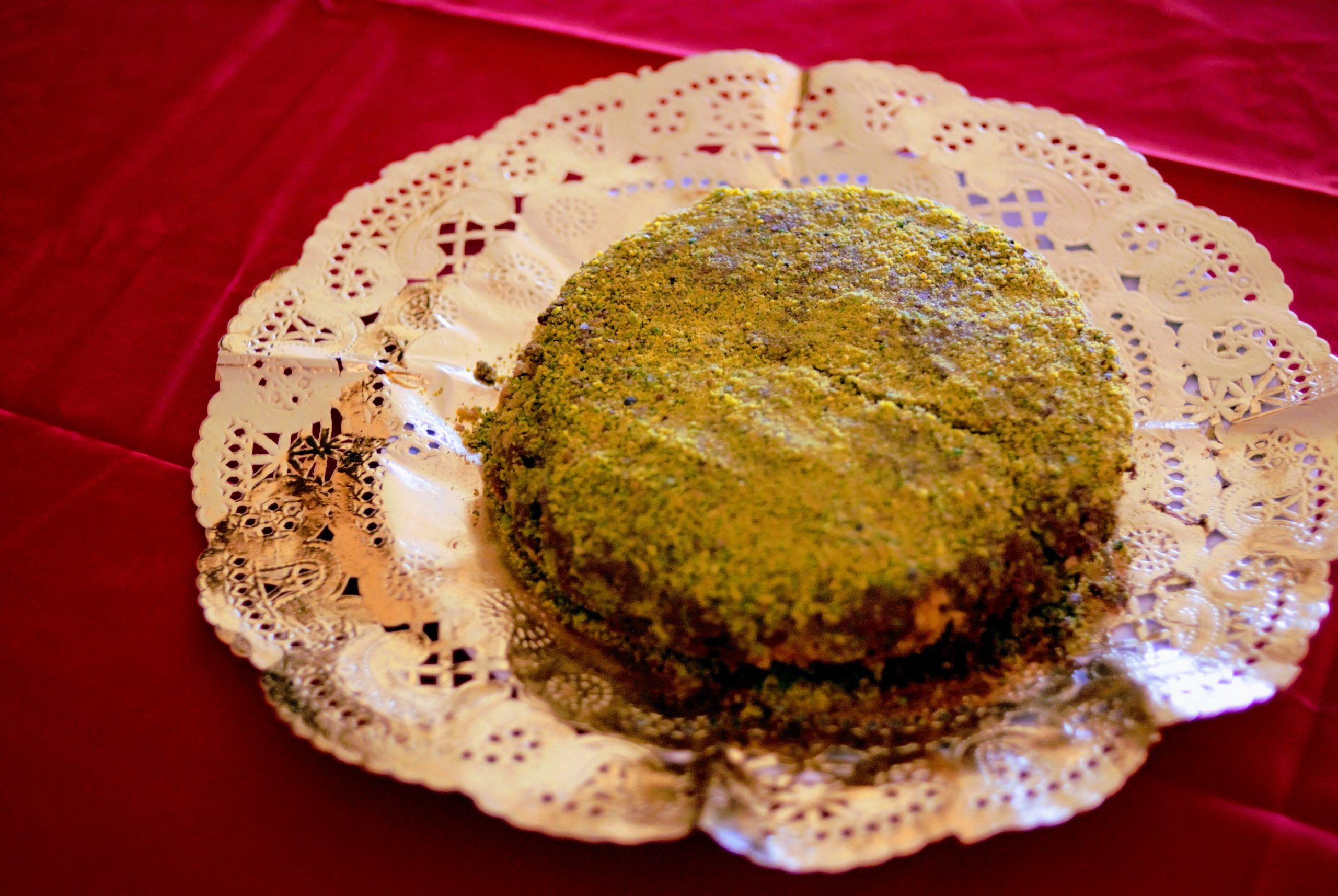 Torta leggera di pistacchio di Bronte (quello vero), yogurt e Nutella